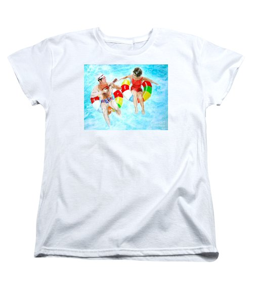 Women's T-Shirt (Standard Cut) featuring the drawing Pool by Beth Saffer