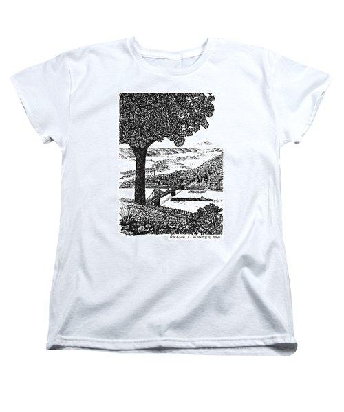 Portsmouth Ohio From A Kentucky Hill Women's T-Shirt (Standard Cut) by Frank Hunter