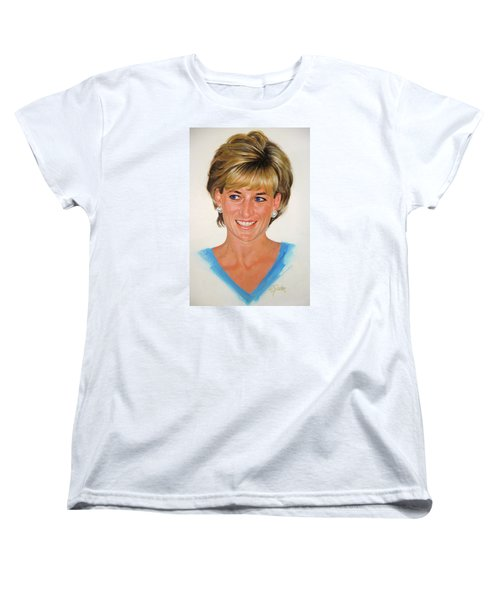 Women's T-Shirt (Standard Cut) featuring the painting Princess Diana by Cliff Spohn