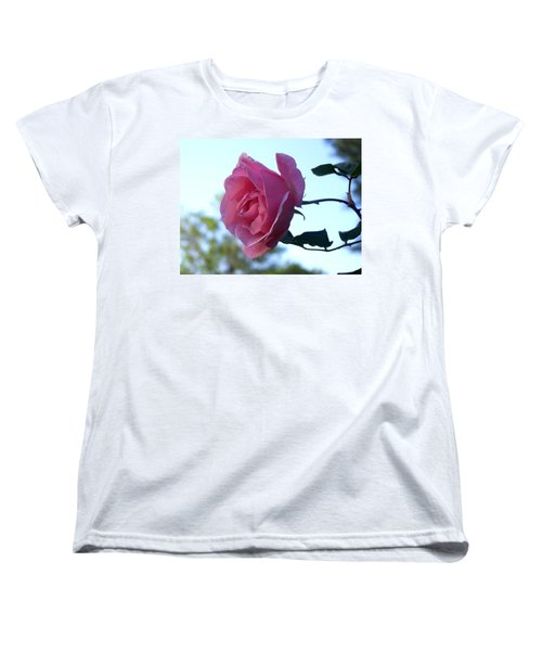 Women's T-Shirt (Standard Cut) featuring the photograph Reaching For Sunlight by Kathy  White