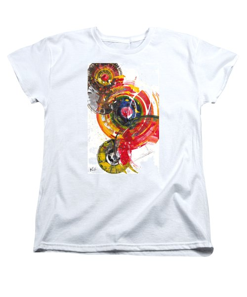 Women's T-Shirt (Standard Cut) featuring the painting Red And Blue's Gold  837.120811 by Kris Haas