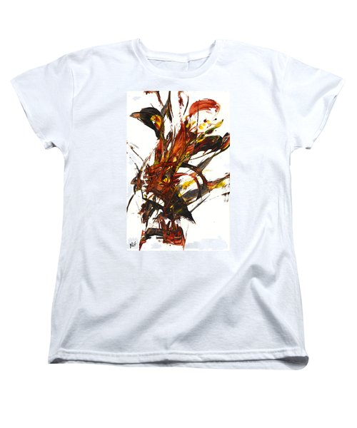 Women's T-Shirt (Standard Cut) featuring the painting Red Flame II 65.121410 by Kris Haas