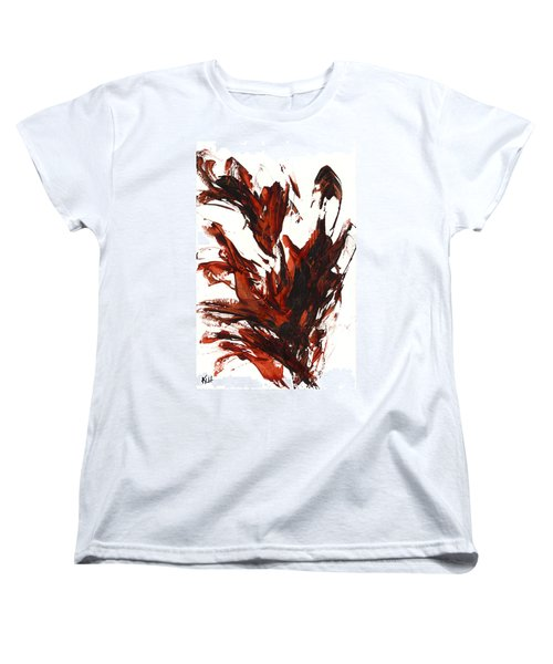 Women's T-Shirt (Standard Cut) featuring the painting Red Flame IIi 64.121410 by Kris Haas