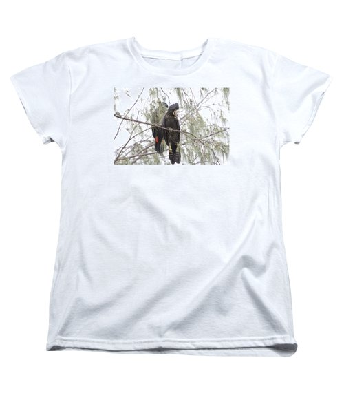 Red Tailed Black Cockatoos Women's T-Shirt (Standard Cut) by Douglas Barnard