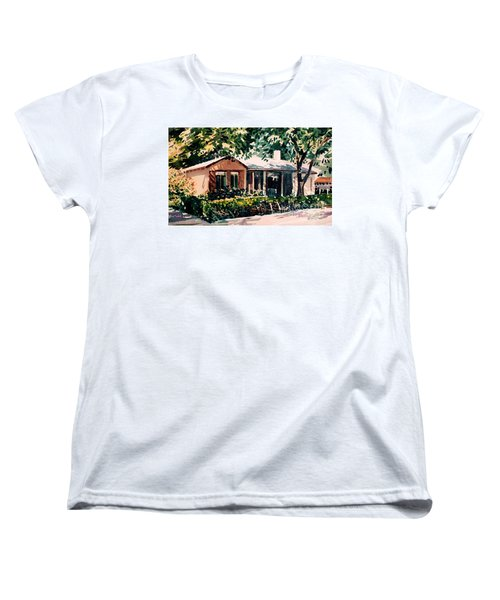 Women's T-Shirt (Standard Cut) featuring the painting Redwood City #4 by Donald Maier