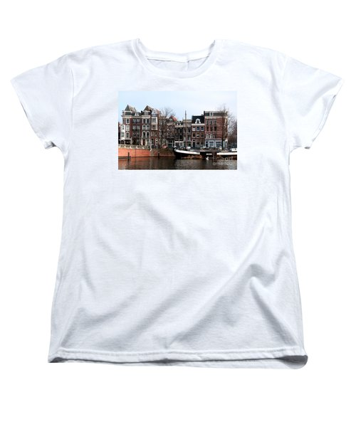 River Scenes From Amsterdam Women's T-Shirt (Standard Cut) by Carol Ailles