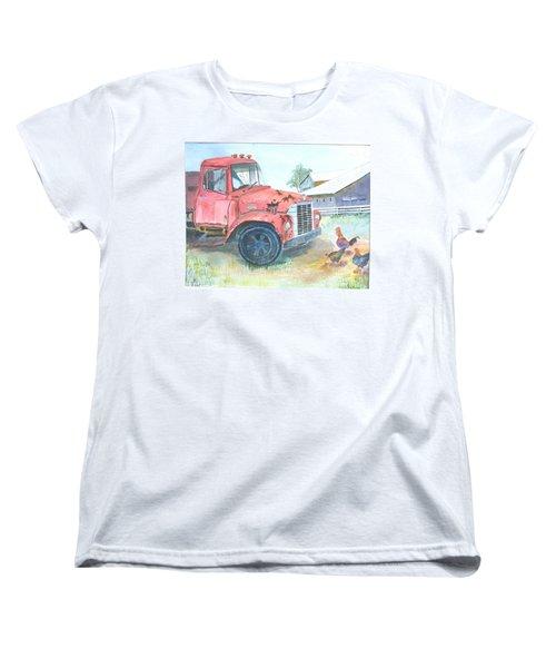 Rusty Truck Women's T-Shirt (Standard Cut) by Christine Lathrop