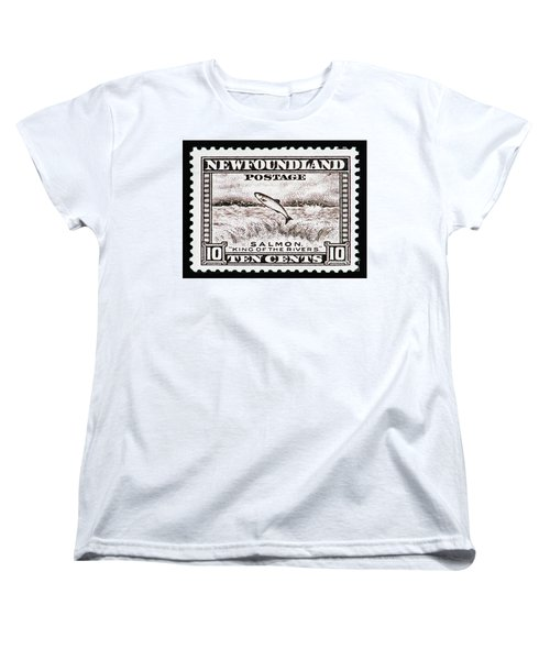 Salmon King Of The Rivers Women's T-Shirt (Standard Cut) by Andy Prendy