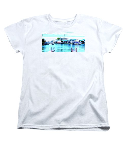 Women's T-Shirt (Standard Cut) featuring the photograph Sandy Beach Bridge by Lisa Brandel
