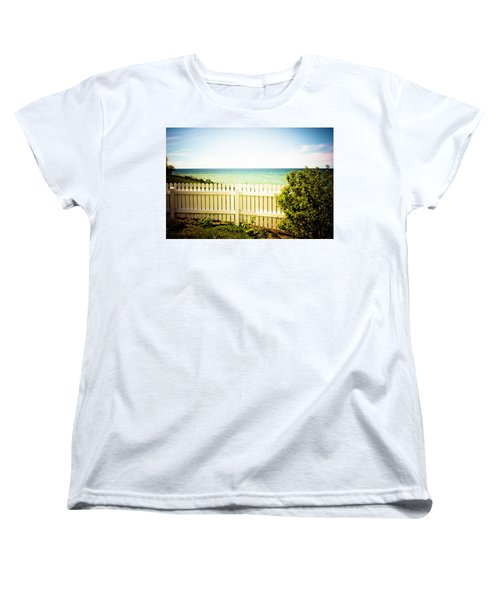 Women's T-Shirt (Standard Cut) featuring the photograph Seaside Retreat by Sara Frank