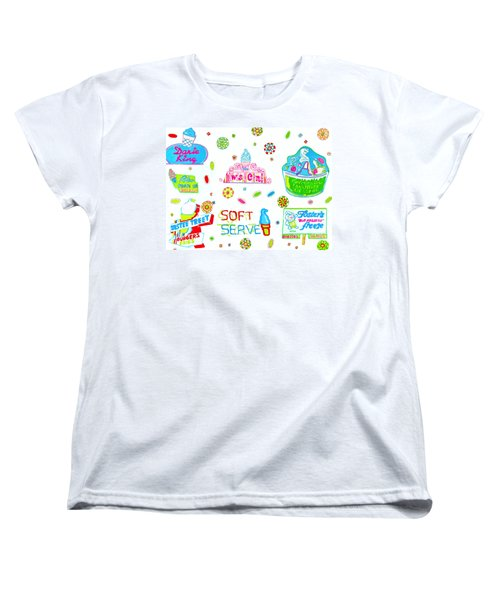 Women's T-Shirt (Standard Cut) featuring the painting Soft Serve by Beth Saffer