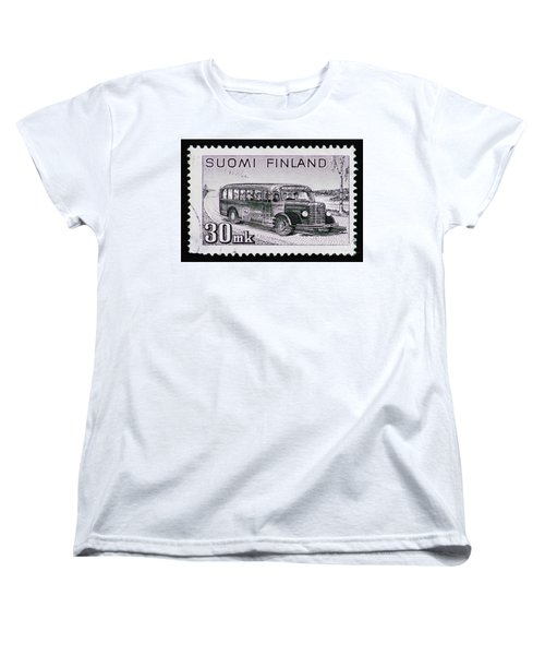 Women's T-Shirt (Standard Cut) featuring the photograph Speedy Old Bus by Andy Prendy