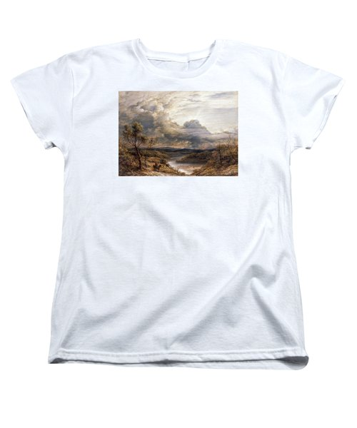 Sun Behind Clouds Women's T-Shirt (Standard Cut) by John Linnell
