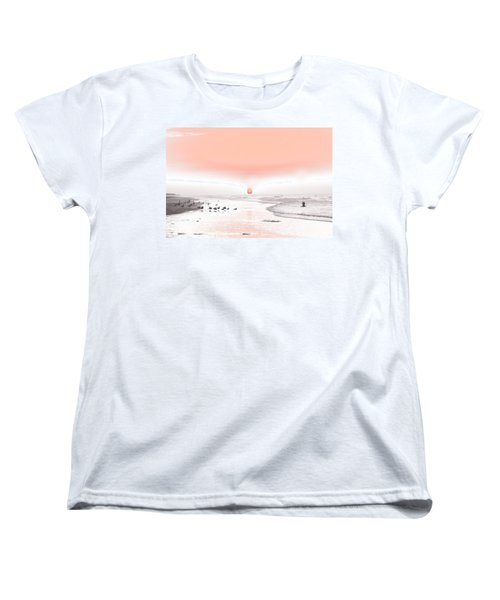 Pastel Sunrise Beach Women's T-Shirt (Standard Cut) by Tom Wurl