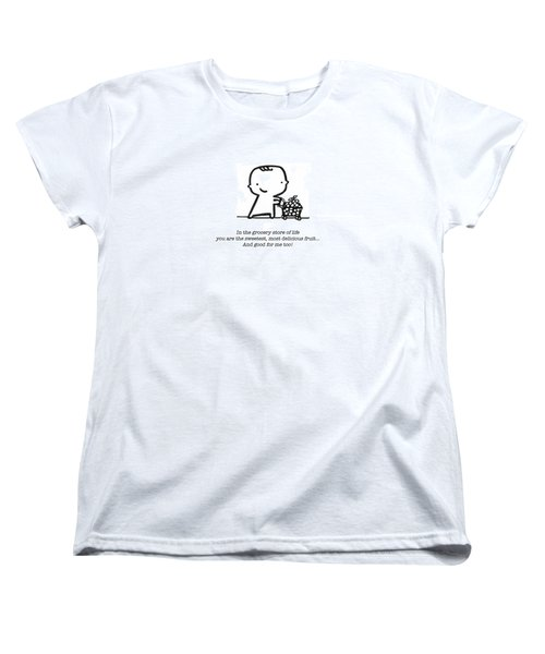 Women's T-Shirt (Standard Cut) featuring the drawing Sweetest Fruit by Leanne Wilkes