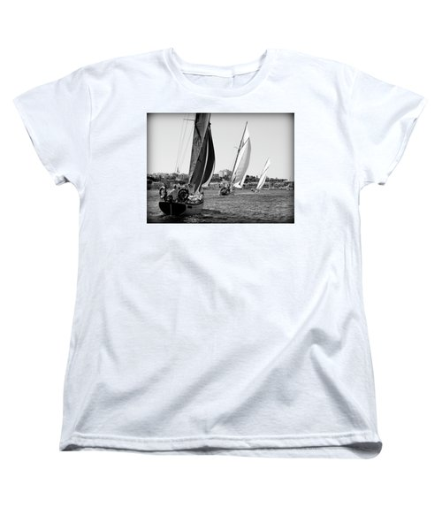 Women's T-Shirt (Standard Cut) featuring the photograph Tall Ship Races 2 by Pedro Cardona