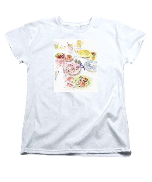 Women's T-Shirt (Standard Cut) featuring the drawing Thats Amore by Beth Saffer