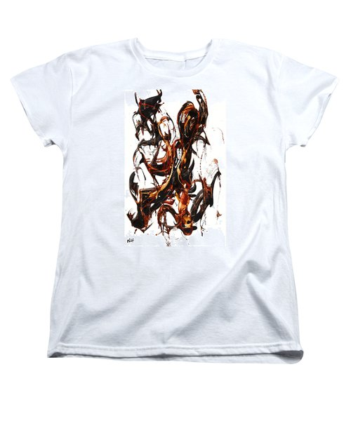 Women's T-Shirt (Standard Cut) featuring the painting The Art Of Languishing Liquidly Well  22.120110 by Kris Haas