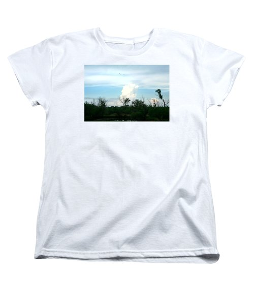 Women's T-Shirt (Standard Cut) featuring the photograph The Back Forty by Lon Casler Bixby
