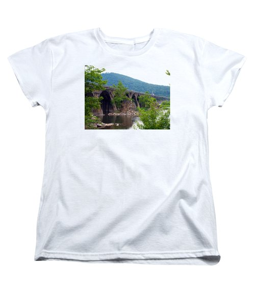 The Great Old Bridge Women's T-Shirt (Standard Cut) by Robert Margetts