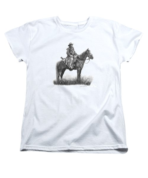 Women's T-Shirt (Standard Cut) featuring the drawing the Quest by Marianne NANA Betts