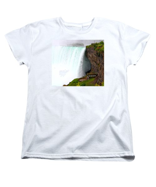 Women's T-Shirt (Standard Cut) featuring the photograph Thundering Force by Davandra Cribbie