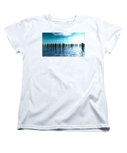 Women's T-Shirt (Standard Cut) featuring the digital art Tide Is Out... by Tim Fillingim