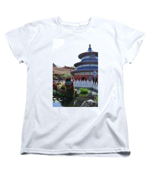 Topiary Dragon Women's T-Shirt (Standard Cut) by Bonnie Myszka