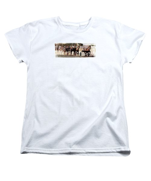 Women's T-Shirt (Standard Cut) featuring the photograph Trotting 3 by Pedro Cardona