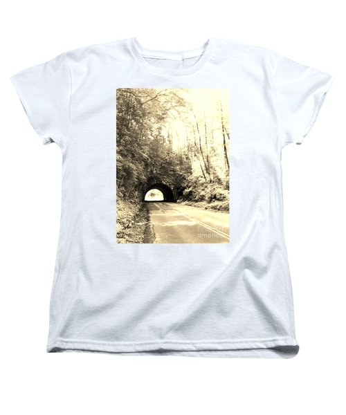 Women's T-Shirt (Standard Cut) featuring the photograph Tunnel Vision by Janice Spivey