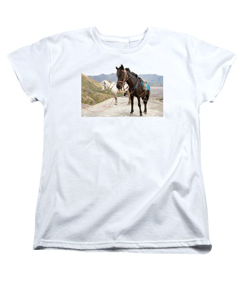 Women's T-Shirt (Standard Cut) featuring the photograph Two Horses by Yew Kwang