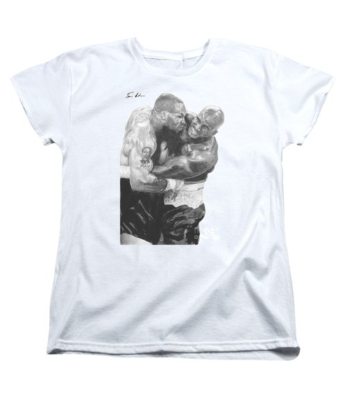 Tyson Vs Holyfield Women's T-Shirt (Standard Cut) by Tamir Barkan
