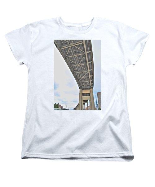Women's T-Shirt (Standard Cut) featuring the photograph Under The Skyway by Michael Frank Jr