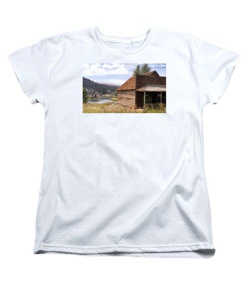Vc Backyard Women's T-Shirt (Standard Cut) by Susan Kinney