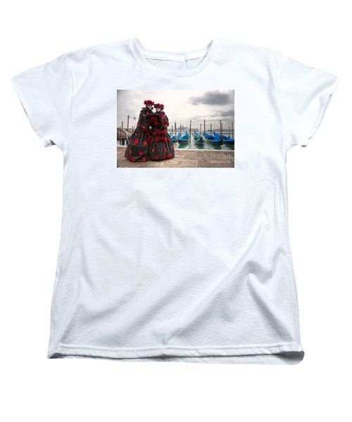 Women's T-Shirt (Standard Cut) featuring the photograph Venice Carnival Mask by Luciano Mortula
