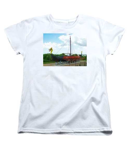 Women's T-Shirt (Standard Cut) featuring the photograph Viking Bay In Broadstairs In England by Steve Taylor