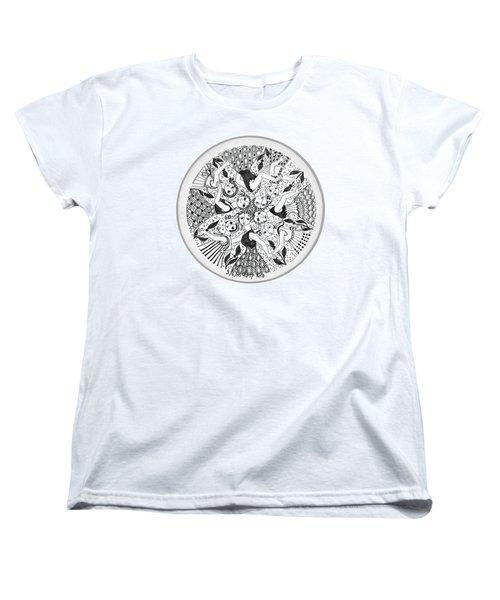 Virgae Women's T-Shirt (Standard Cut) by Rachel Hershkovitz