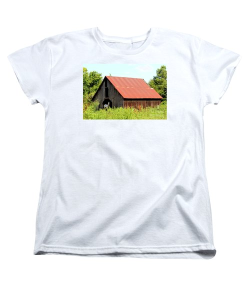 Women's T-Shirt (Standard Cut) featuring the photograph White Horse Waiting by Kathy  White