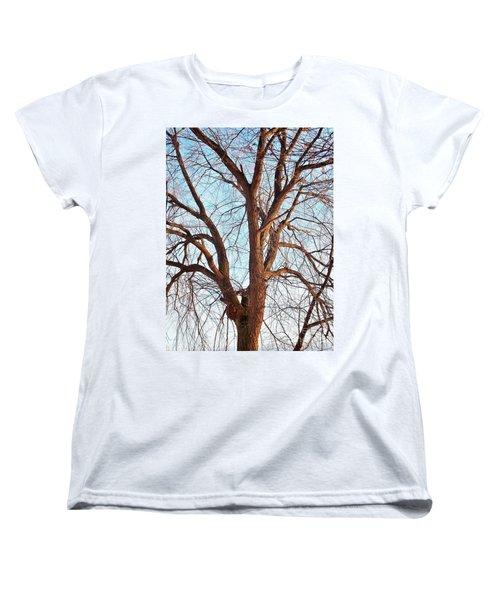 Women's T-Shirt (Standard Cut) featuring the photograph Winter Light by Chalet Roome-Rigdon