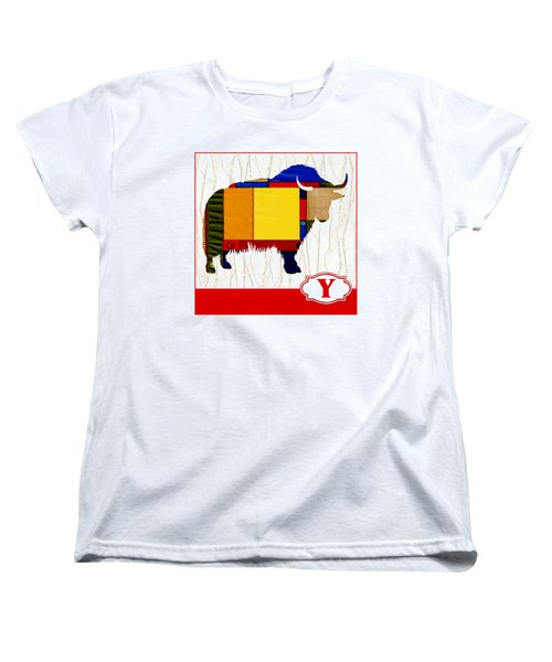 Y Is For Yak Women's T-Shirt (Standard Cut) by Elaine Plesser