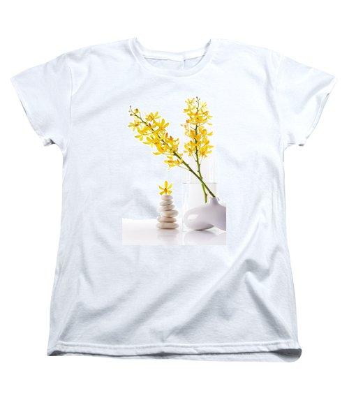 Yellow Orchid Bunchs Women's T-Shirt (Standard Cut) by Atiketta Sangasaeng