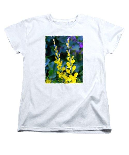 Yellow Plumes Women's T-Shirt (Standard Cut) by Judi Bagwell