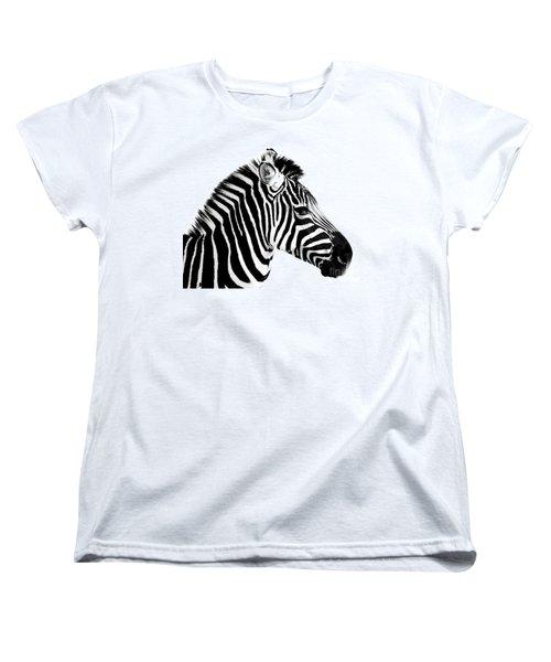 Women's T-Shirt (Standard Cut) featuring the photograph Zebra by Rebecca Margraf