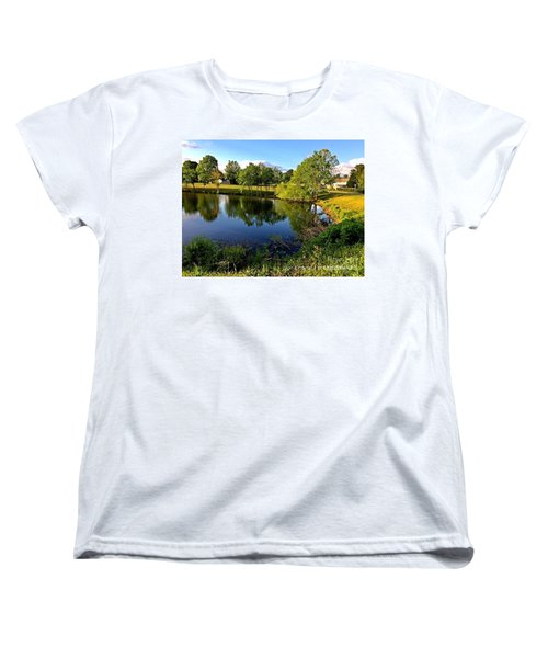Women's T-Shirt (Standard Cut) featuring the photograph  Cypress Creek - No.430 by Joe Finney