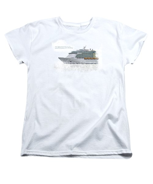I've Been Nauticle On Independence Of The Seas On Transparent Background Women's T-Shirt (Standard Cut) by Terri Waters