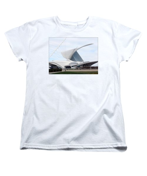 Women's T-Shirt (Standard Cut) featuring the photograph  Milwaukee Art Museum by Kay Novy