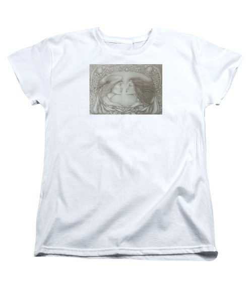 Spring Lovers With Snowdrops Women's T-Shirt (Standard Cut) by Rita Fetisov