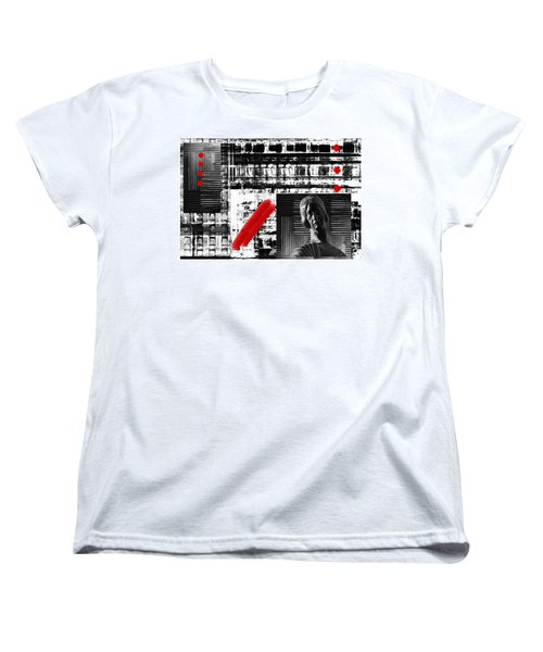 Women's T-Shirt (Standard Cut) featuring the photograph  Where In The Riddle The Answer Hides And Red by Danica Radman