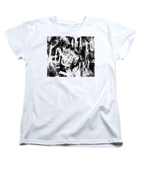 Women's T-Shirt (Standard Cut) featuring the digital art 01 by Sladjana Lazarevic