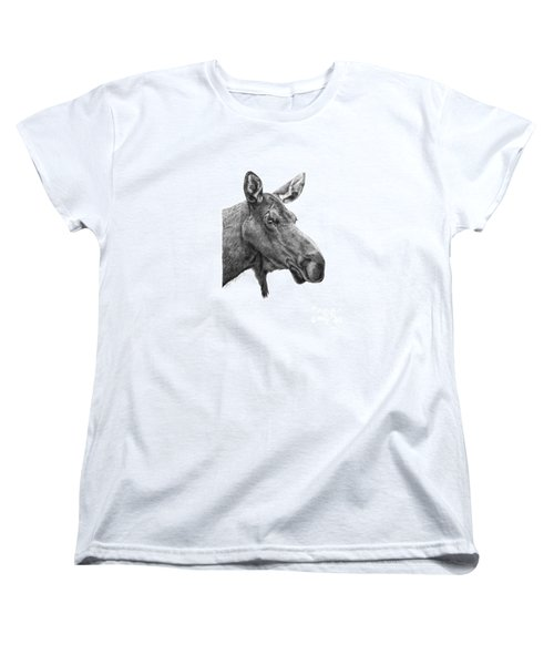 048 - Shelly The Moose Women's T-Shirt (Standard Cut) by Abbey Noelle
